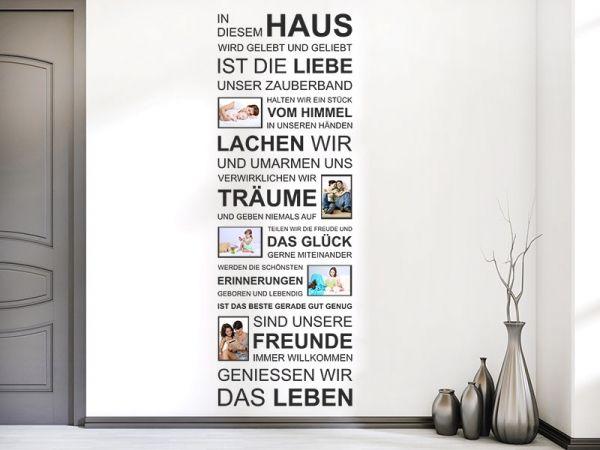 Nice Spruchband Wandtattoo In Diesem Haus Fotorahmen Als Ausgefallene  Wandgestaltungsidee Der Besonderen Art. #Zuhause #