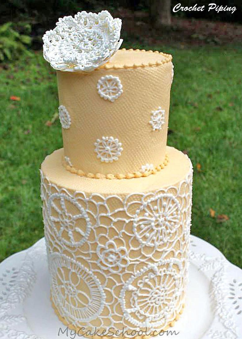 Buttercream Crochet Piping Design-Cake Decorating Video | Piping ...