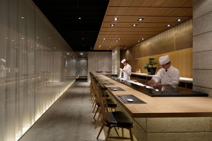 Grill sushi bar by gate interior design office shanghai