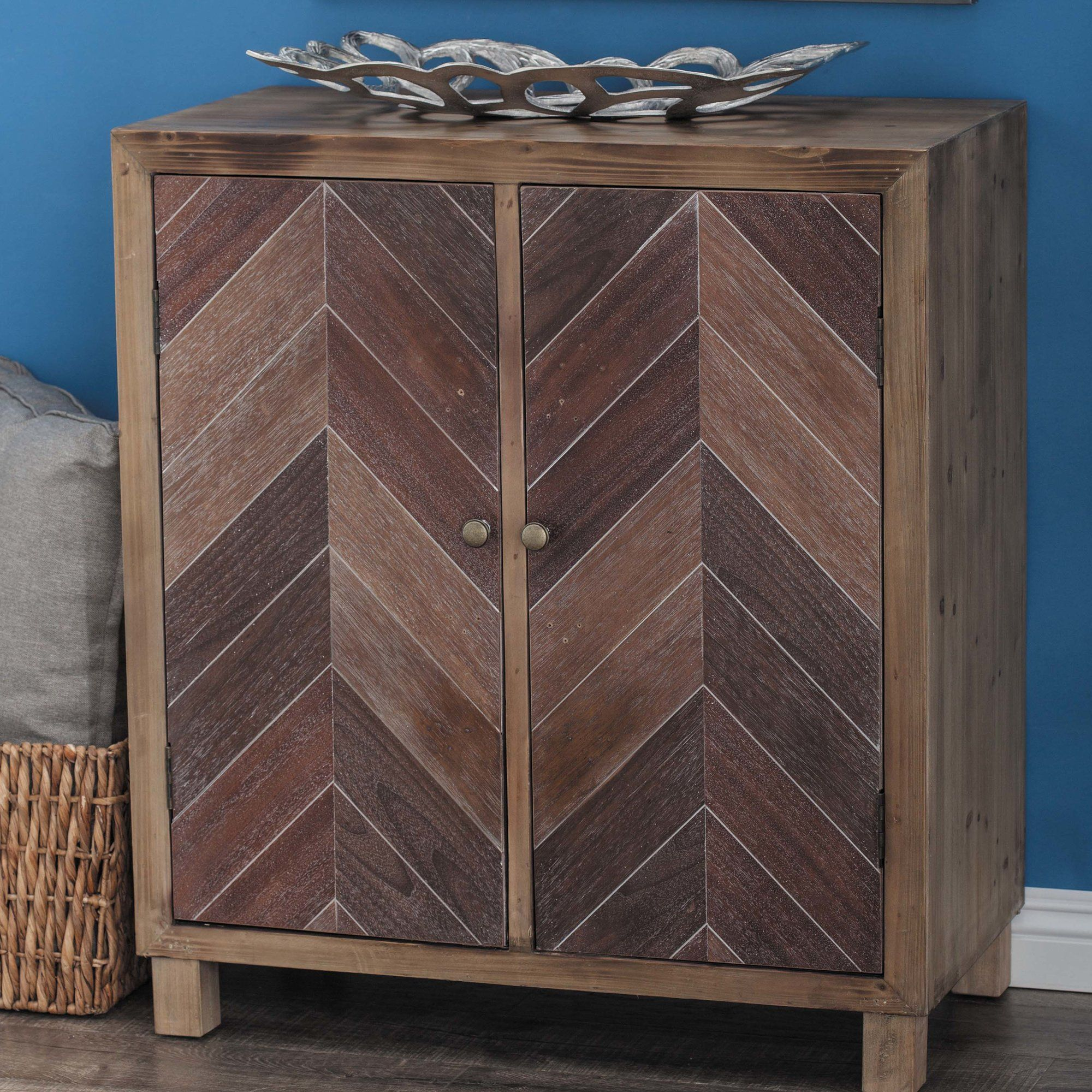 2 Door Accent Cabinet Traditional Furniture Wooden Cabinets
