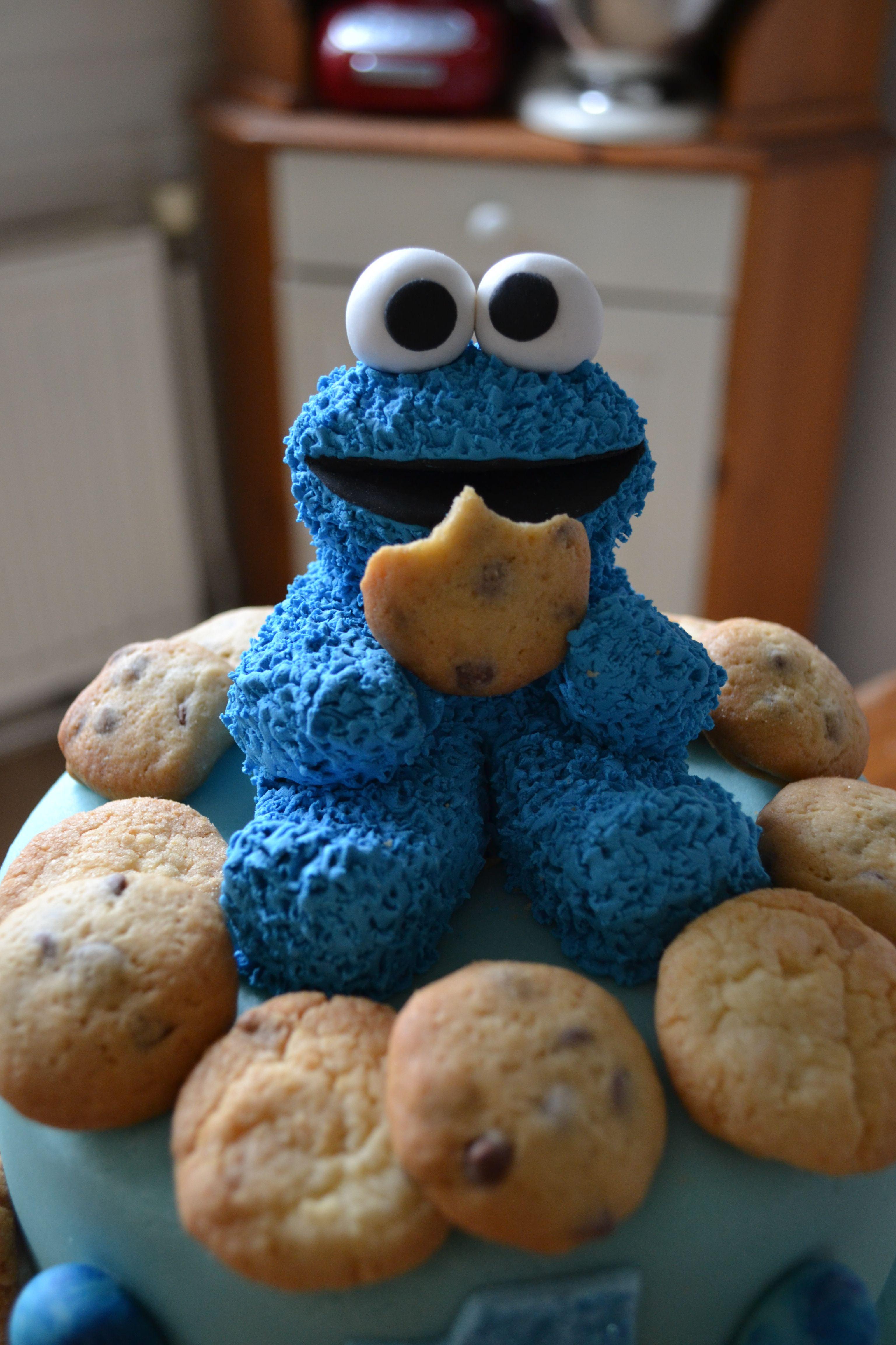 Cookie monster cake monster cake monster cookies