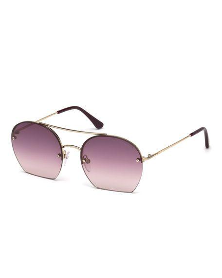 40f04b2fb3b TOM FORD Antonia Cutoff Round Sunglasses.  tomford
