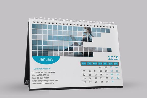 2015 Corporate Desk Calendar Template Psd On Behance Calendar