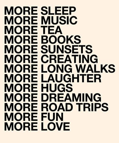 Do more of all these wonderful things. +++For more quotes on #positivity and #happiness, visit http://www.hot-­-lyts.com/