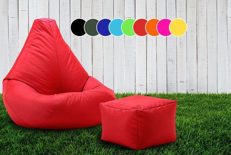 Outdoor beanbag footstool outdoor bean bag bean bag
