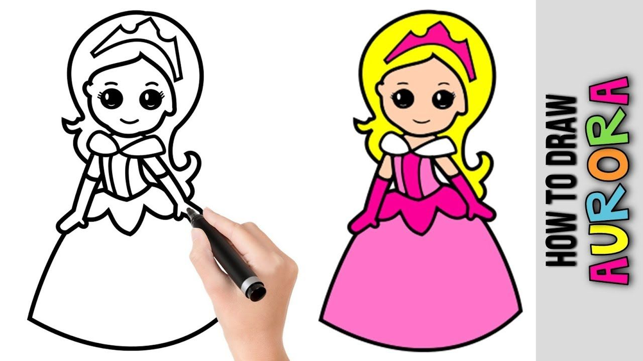 How To Draw Aurora Disney Princess Easy Pictures To Draw Step