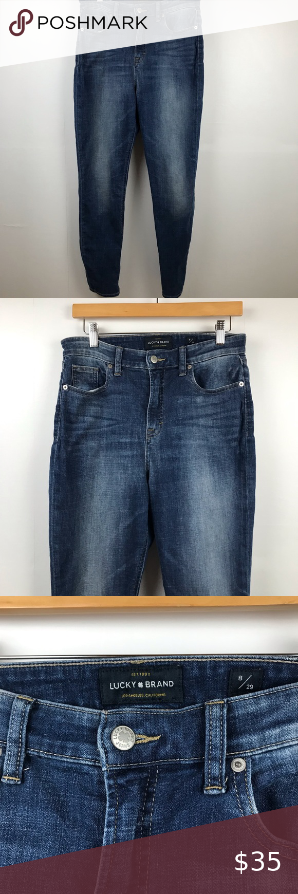 Lucky Brand Dark Blue Jeans Bridgette Skinny Dark Blue Jeans Womens Jeans Skinny Blue Jeans