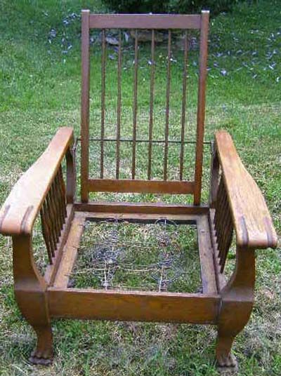 Bare chair.
