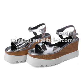 ce86a989e39 New Design Fashion Ladies Flat Platform Fancy Style Summer Sandals Shoes  for Women Girls 2017