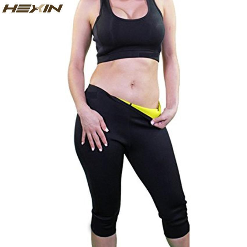208bb7451a8d4 Hexin Womens Slimming Pants Hot Thermo Neoprene Sweat Sauna Body Shapers  Fitness Stretch Control