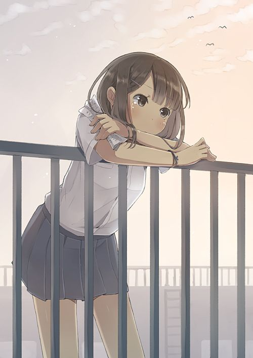 Anime girls hide when they cry and no one knows while we are watched and it's embarrassing.