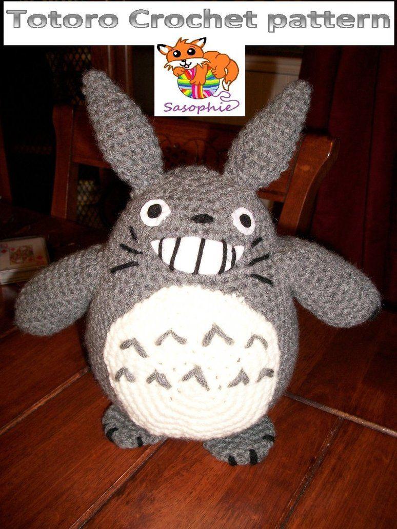 Totoro crochet pattern by Sasophie on DeviantArt   Amigurumi   Pinterest