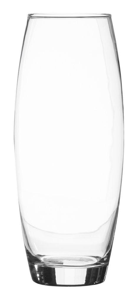 Ravenhead Large Clear Glass 26cm Tall Waisted Glass Flower Vase