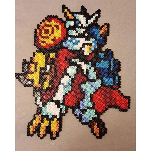 Omnimon - Digimon perler beads by peckapon