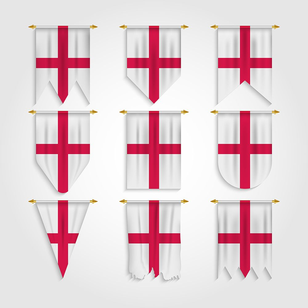 England Flag In Different Shapes In 2020 England Flag Flag Medieval England