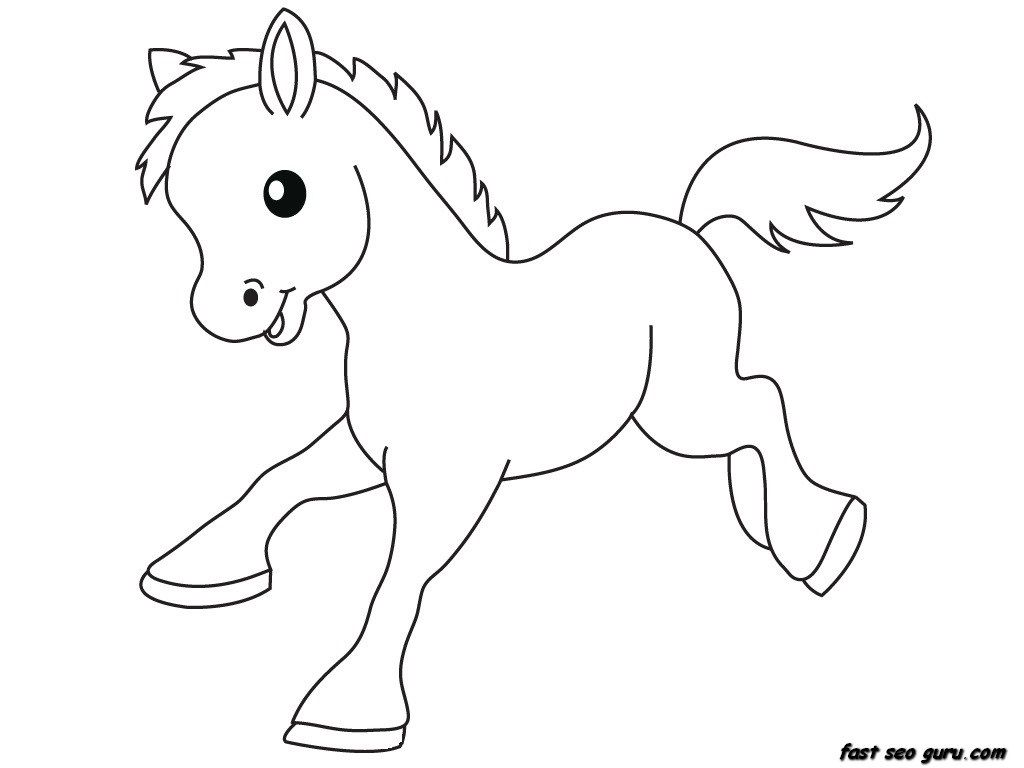 Print Out Pony Baby Animals Coloring Pages Jpg 1024 768 Farm Animal Coloring Pages Coloring Pictures Of Animals Horse Coloring Pages