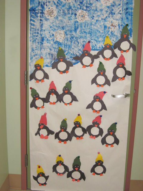 Penguins School Christmas Christmas Classroom Door