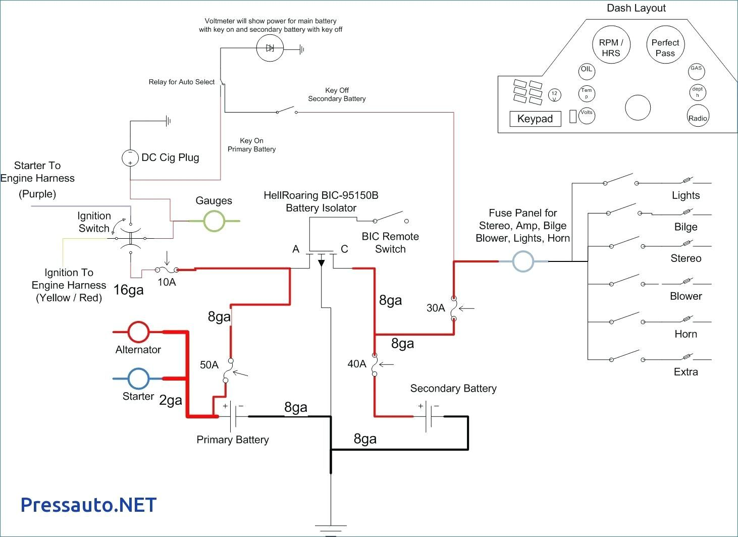 Boat Battery Isolator Switch Wiring Diagram Boat Battery Fuse Panel Secondary Battery