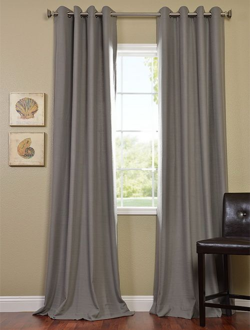 Steel Grey Grommet Cotenza Curtain Panel