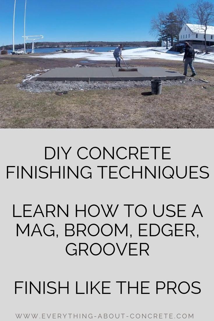 Diy concrete finishing techniques mag broom edge