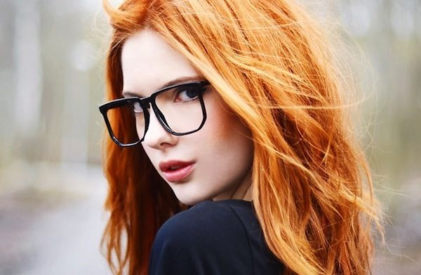 teen Cute with glasses redhead