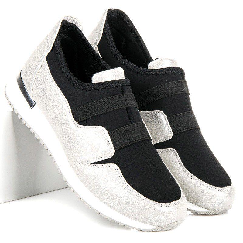 Sergio Todzi Wsuwane Buty Damskie Szare Sneakers Baby Shoes Shoes