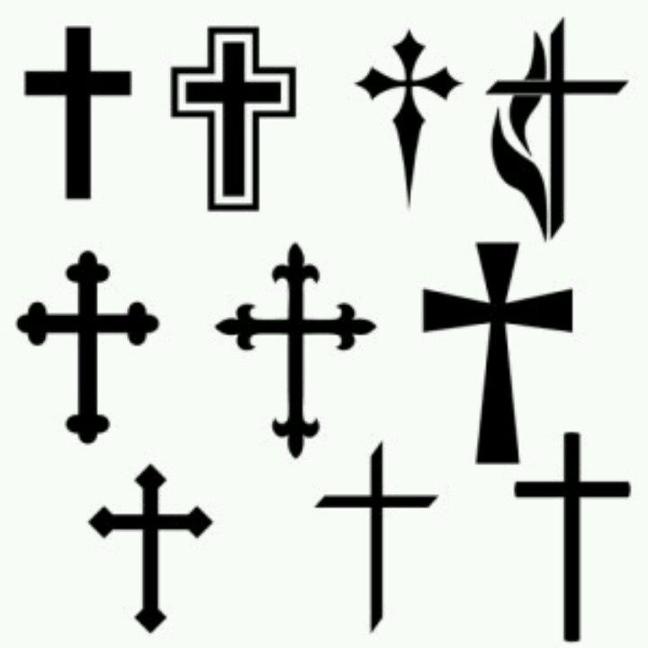 Black Cross Tattoos Design Stencil Tattoos Pinterest Tattoos