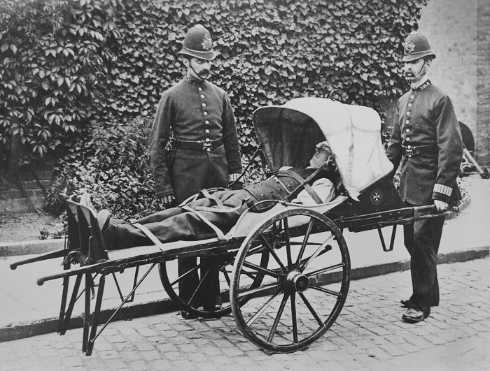 Image result for Victorian LOndon police handcart