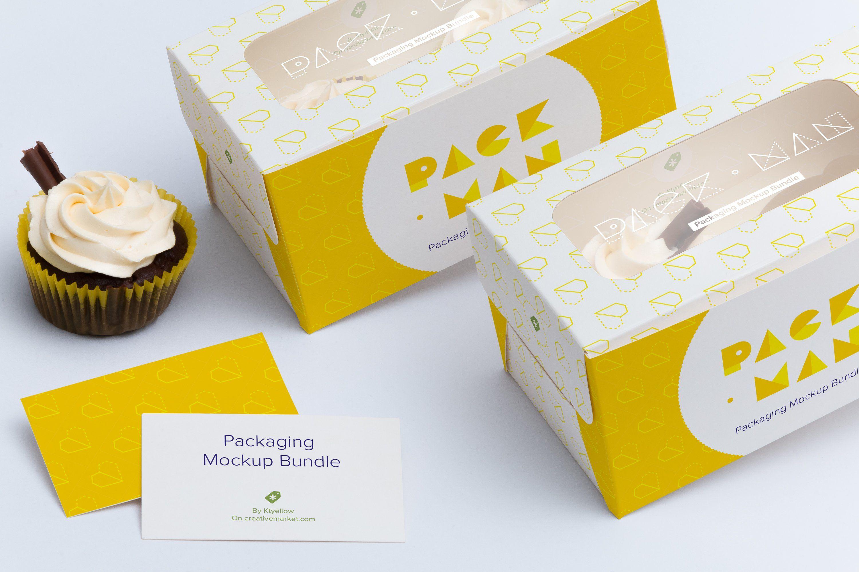 Download Two Cupcake Box Mockup 04 Box Mockup Cupcake Boxes Photoshop Mockup