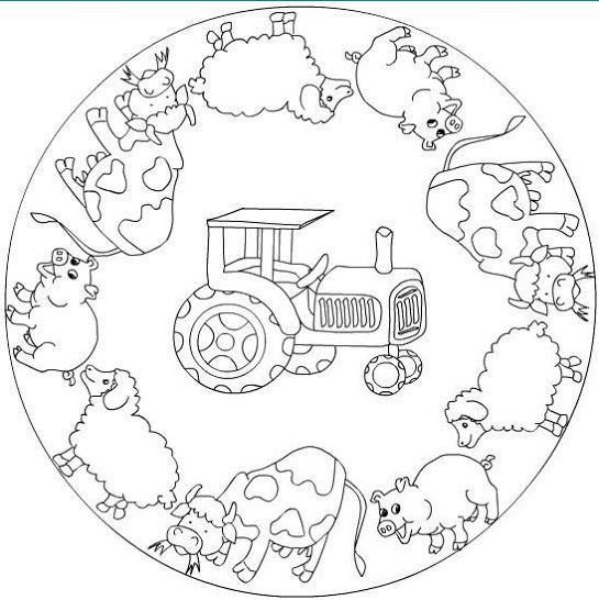 Mandala: boerderij | School = leren met plezier | Pinterest ...