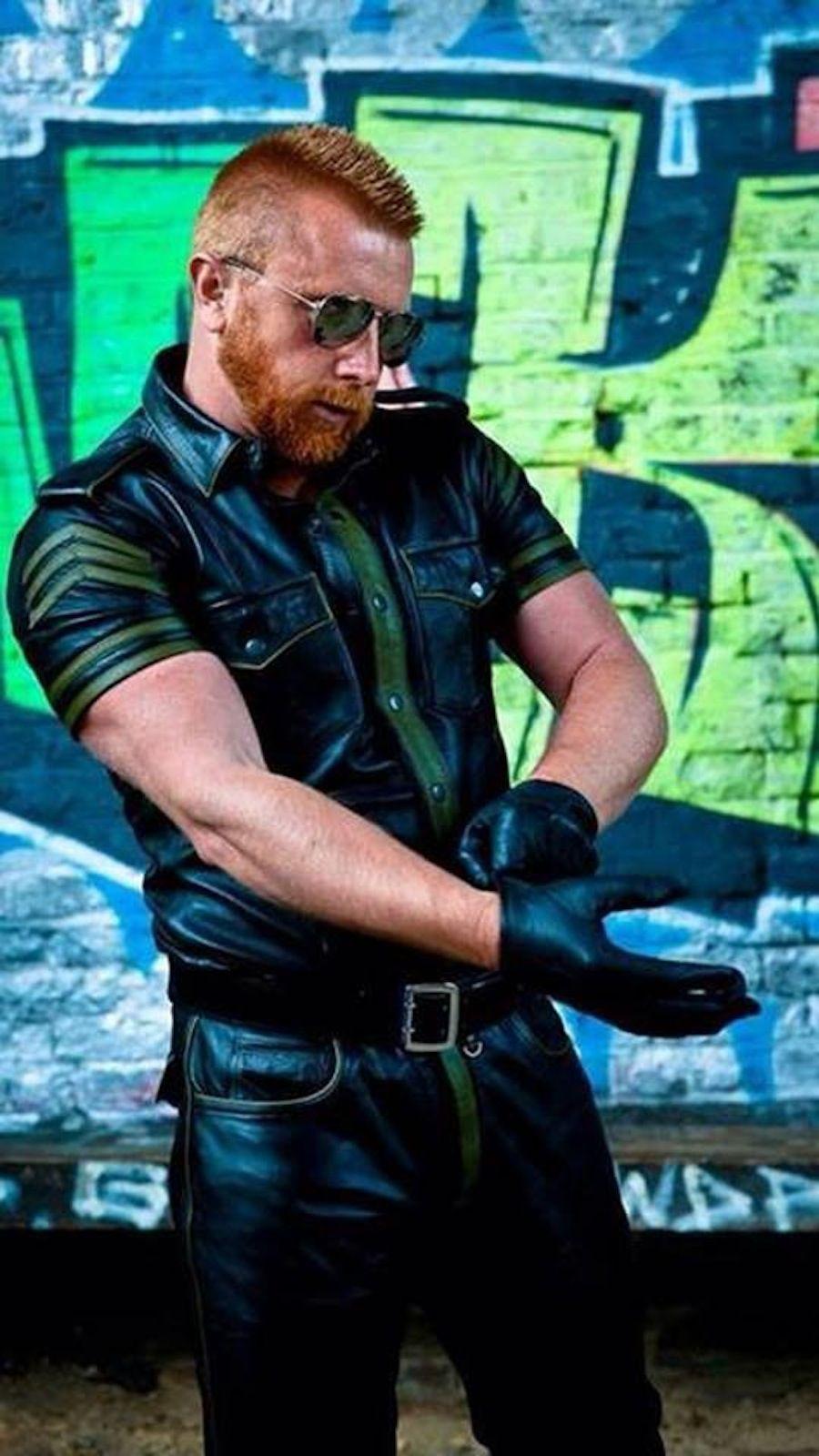 Black leather uniform gloves - Fm Leather Glovesguys Leatherleather Prideleather Uniformblack