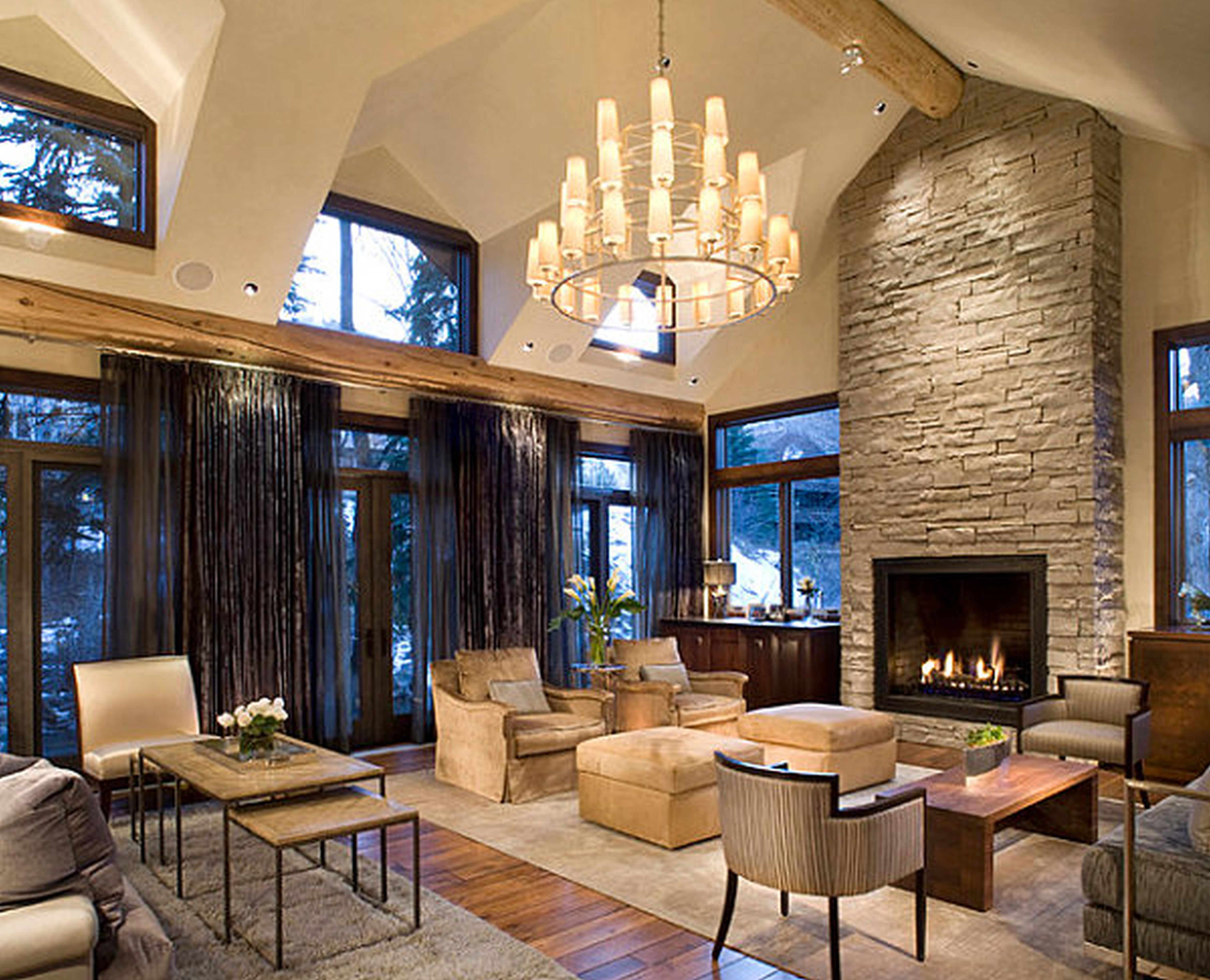 Astonishing Rustic Meets Modern Living Room Interior Decoration With Stone Fireplace D Modern Rustic Living Room Modern Living Room Interior Rustic Living Room
