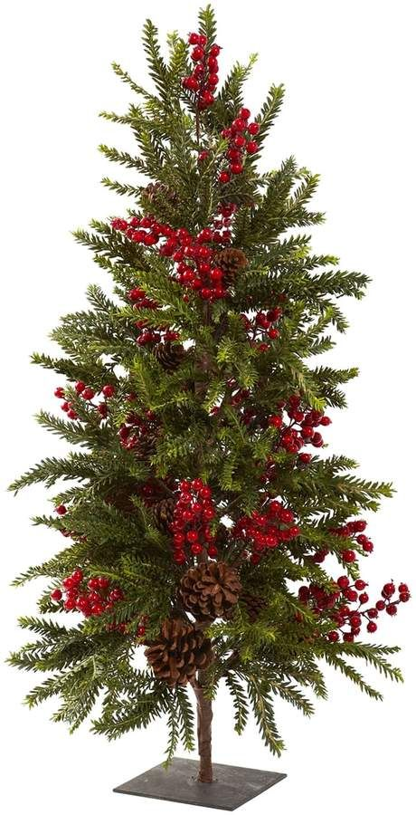 Kohls Christmas Trees.Nearly Natural Pine Berry Artificial Christmas Tree