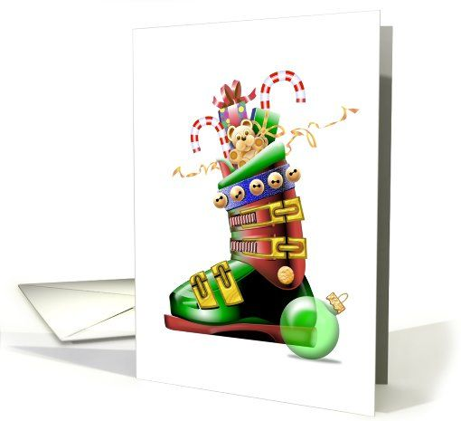 Holiday snow ski boot sports specific greeting card universe by holiday snow ski boot sports specific greeting card universe by tony lamonte m4hsunfo