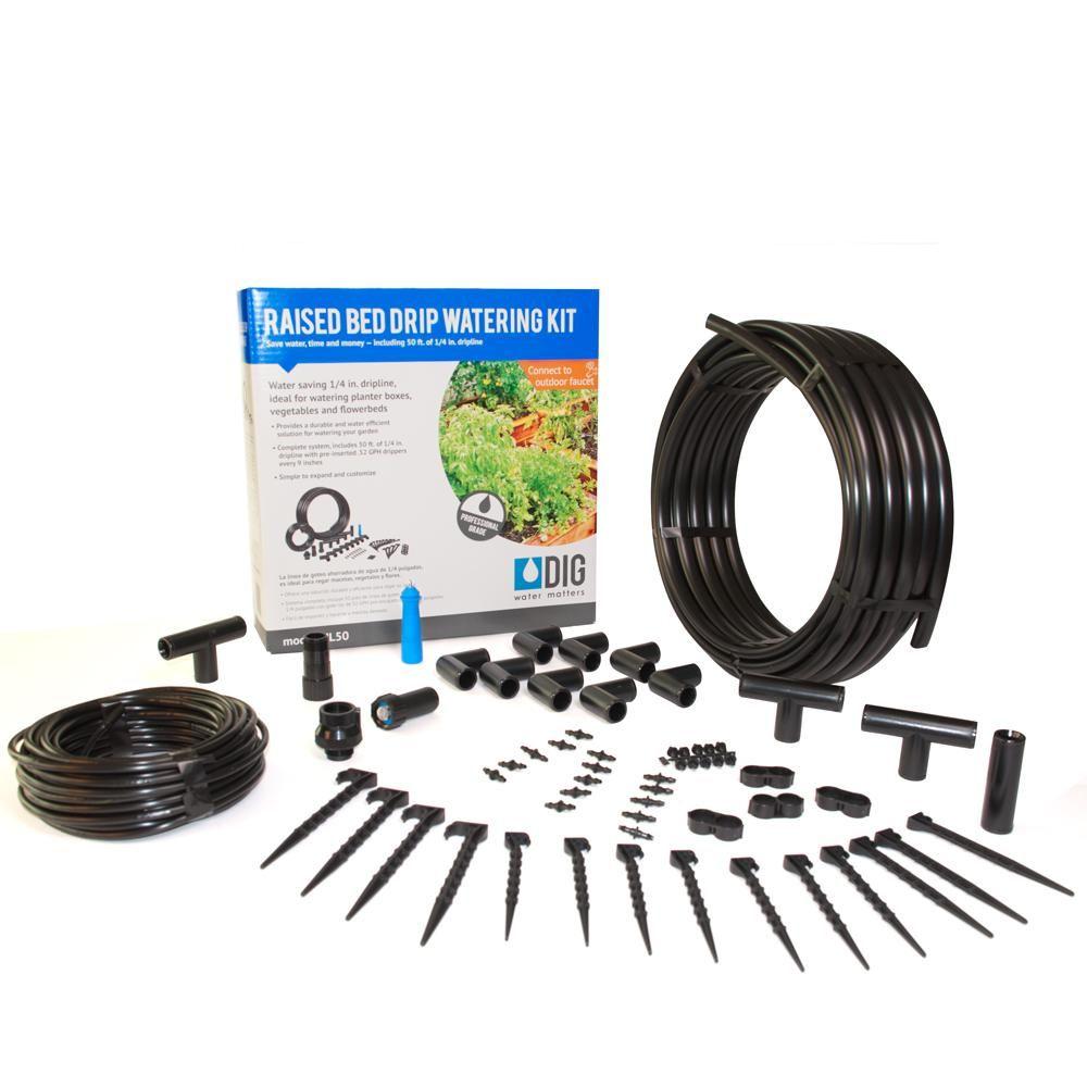 DIG Raised Bed Garden Drip Irrigation Kit-ML50 | Raised ...