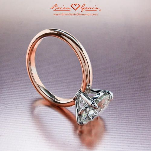 18K Rose Gold Grace, Engagement Ring   Solitaire Diamond Ring.