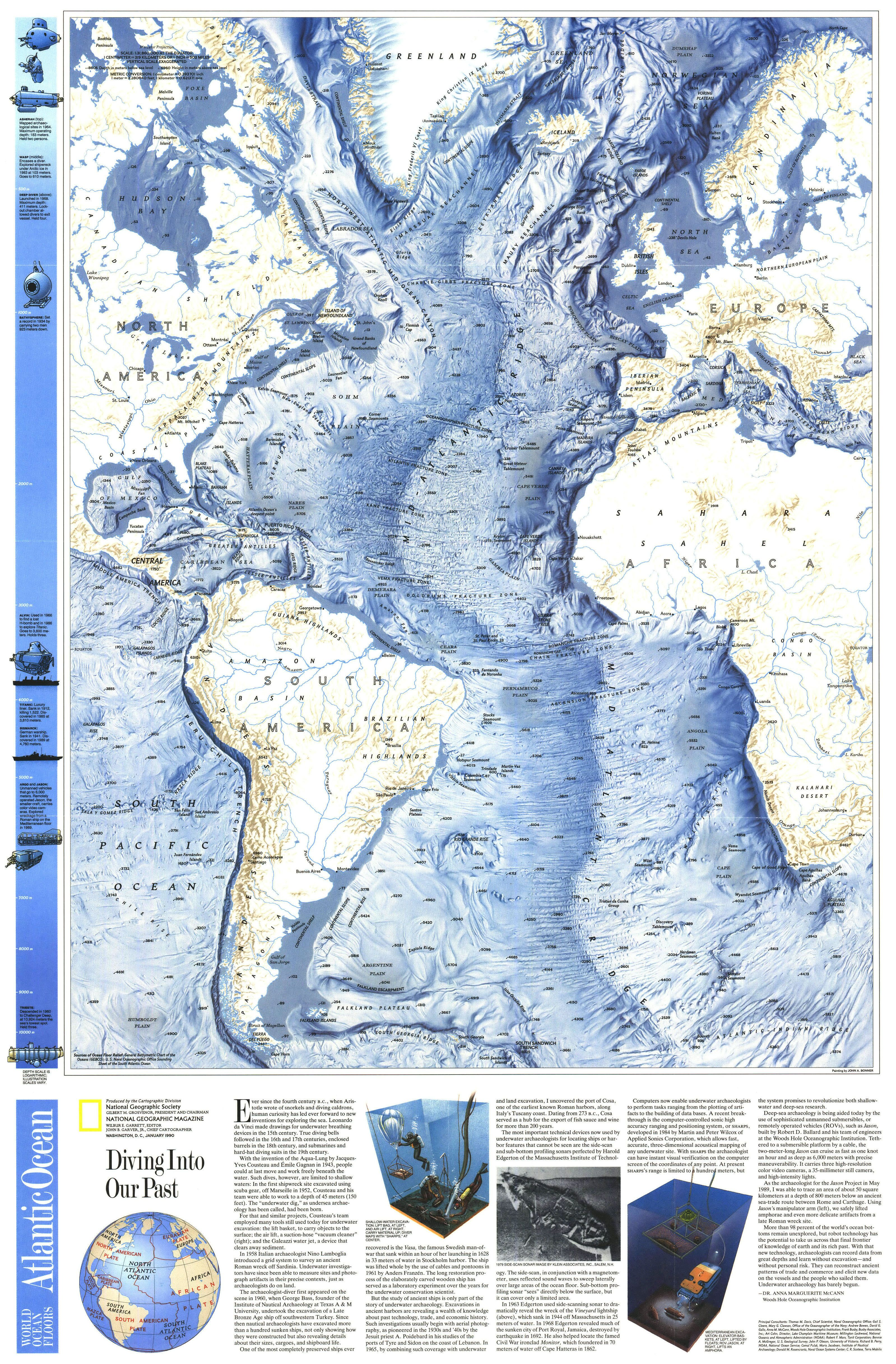 Imgur National Geographic Maps Oceans Of The World Map Art