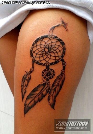 Tatuaje De Atrapasueños Muslo Zonatattoos Com Tatuajes Atrapasueños Tatuajes De Arte Corporal Tatuajes Bebe