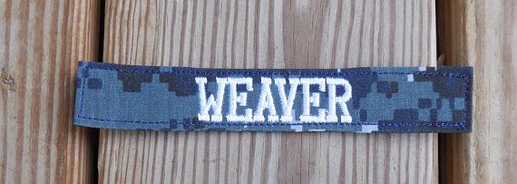 Navy Nwu Type I Custom Name Tapes Military Name Tape Or Name Patch Embroidered Navy Nwu Colored Tape Name Patches