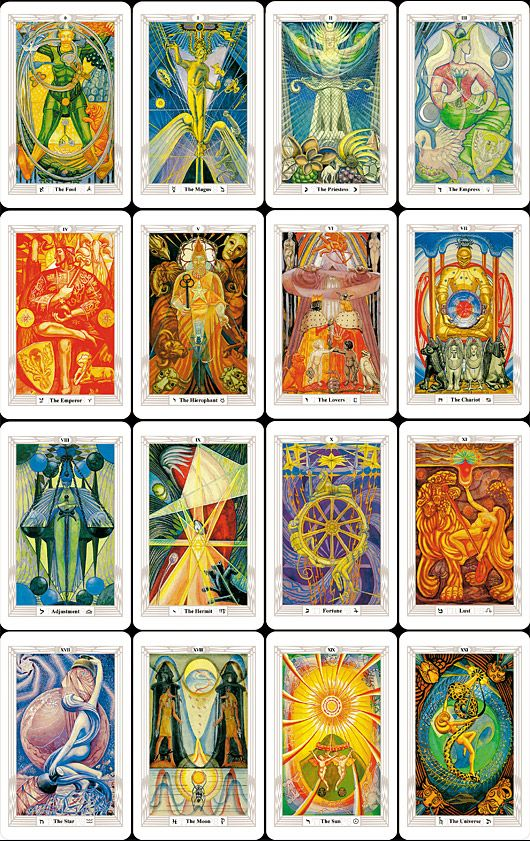 5bae9a1c26468 aleister crowley thoth deck - Google Search Tarrot Cards, Occult Symbols,  Tarot Card Decks