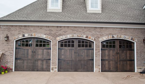 Stained Custom Wood Garage Door Custom Wood Garage Doors Wood Garage Doors Garage Doors