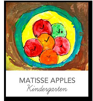 Kindergarten Life paint, Matisse and Kindergarten