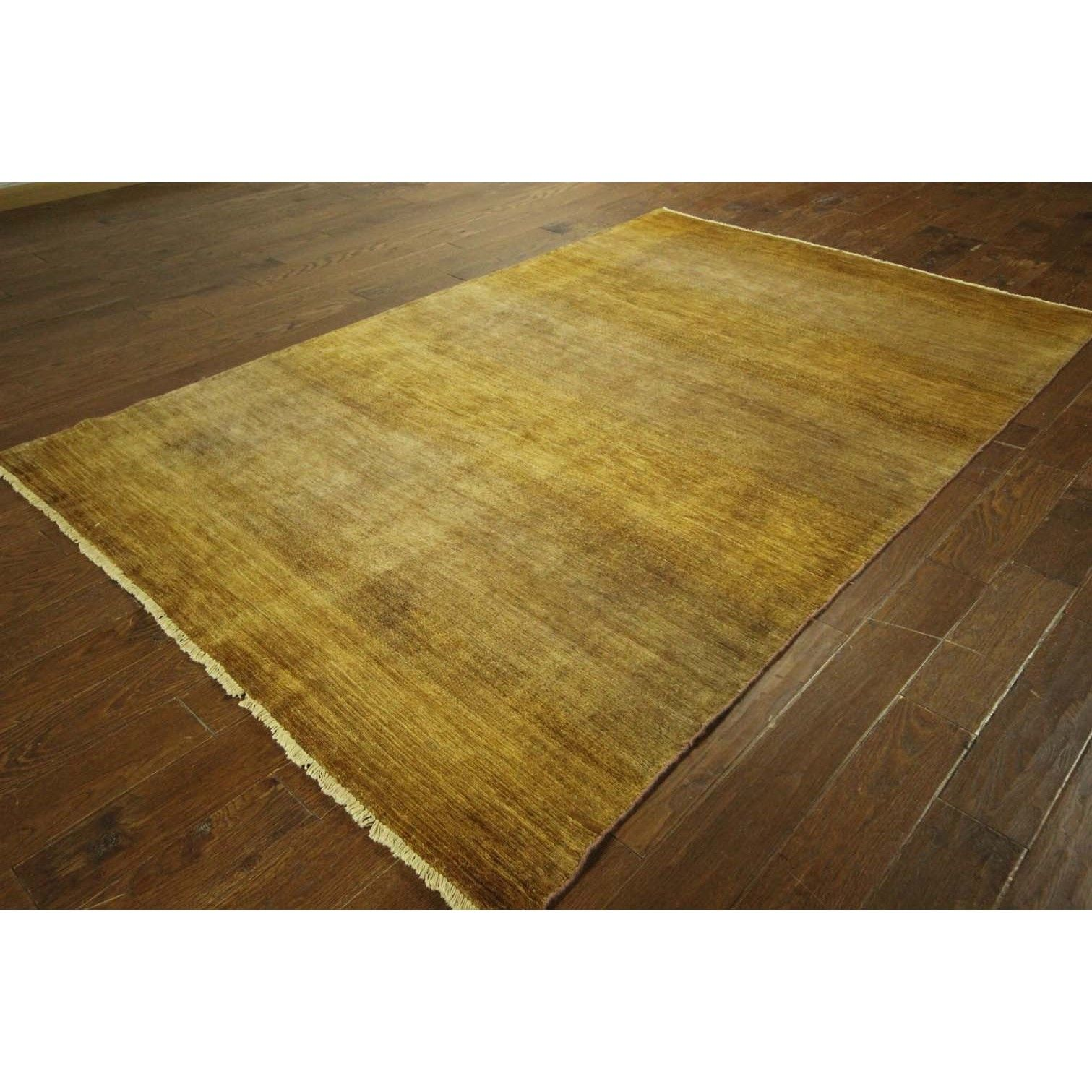 Manhattan Gabbeh Collection Plain Hand-knotted Area Rug