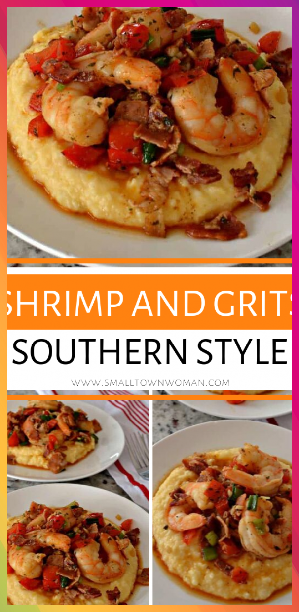 Shrimp and Grits Southern Style with Cheesy Grits<br />#Cheesy #Grits #shrimp #southern #Style