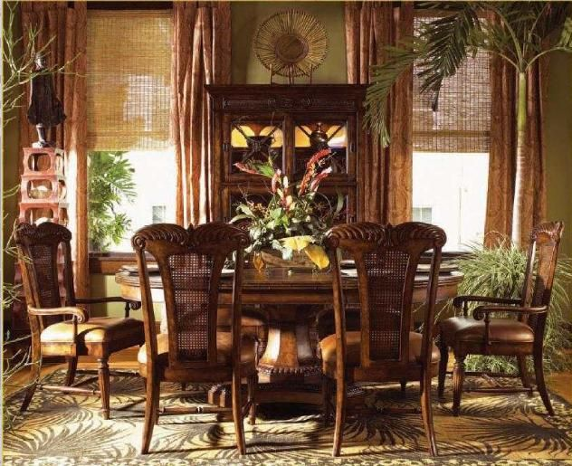 british colonial dining room - tommy bahama | british colonial