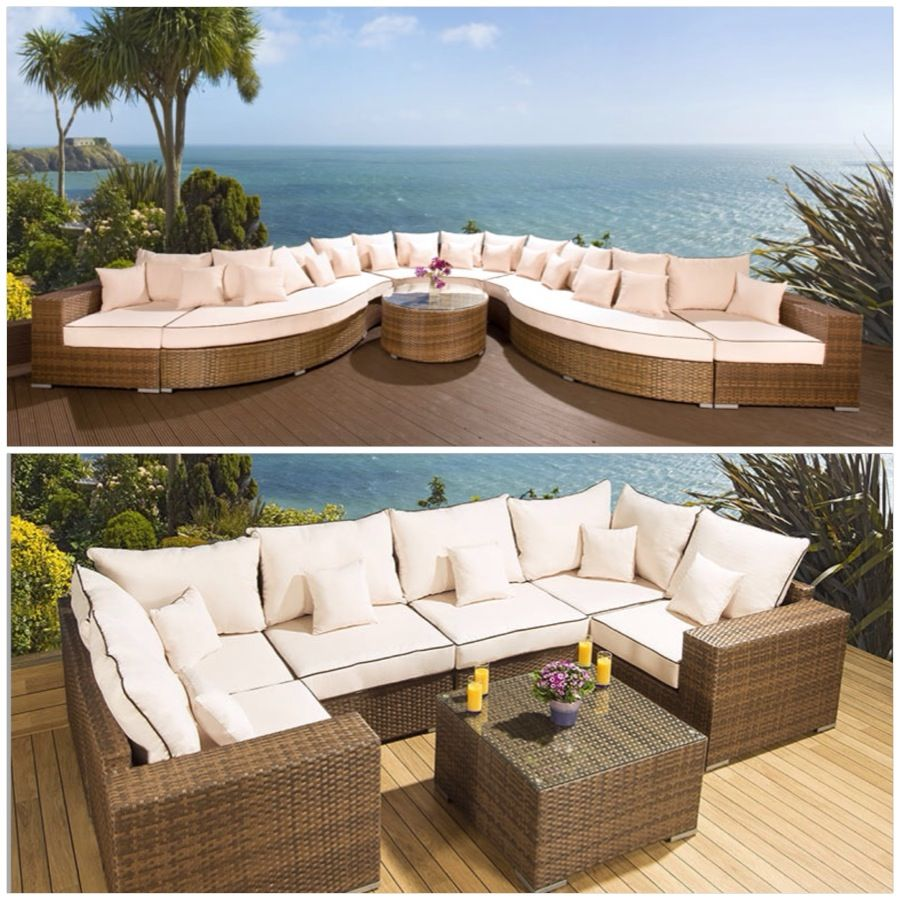 Perfect Big Sectional for your Patio for large Families ...
