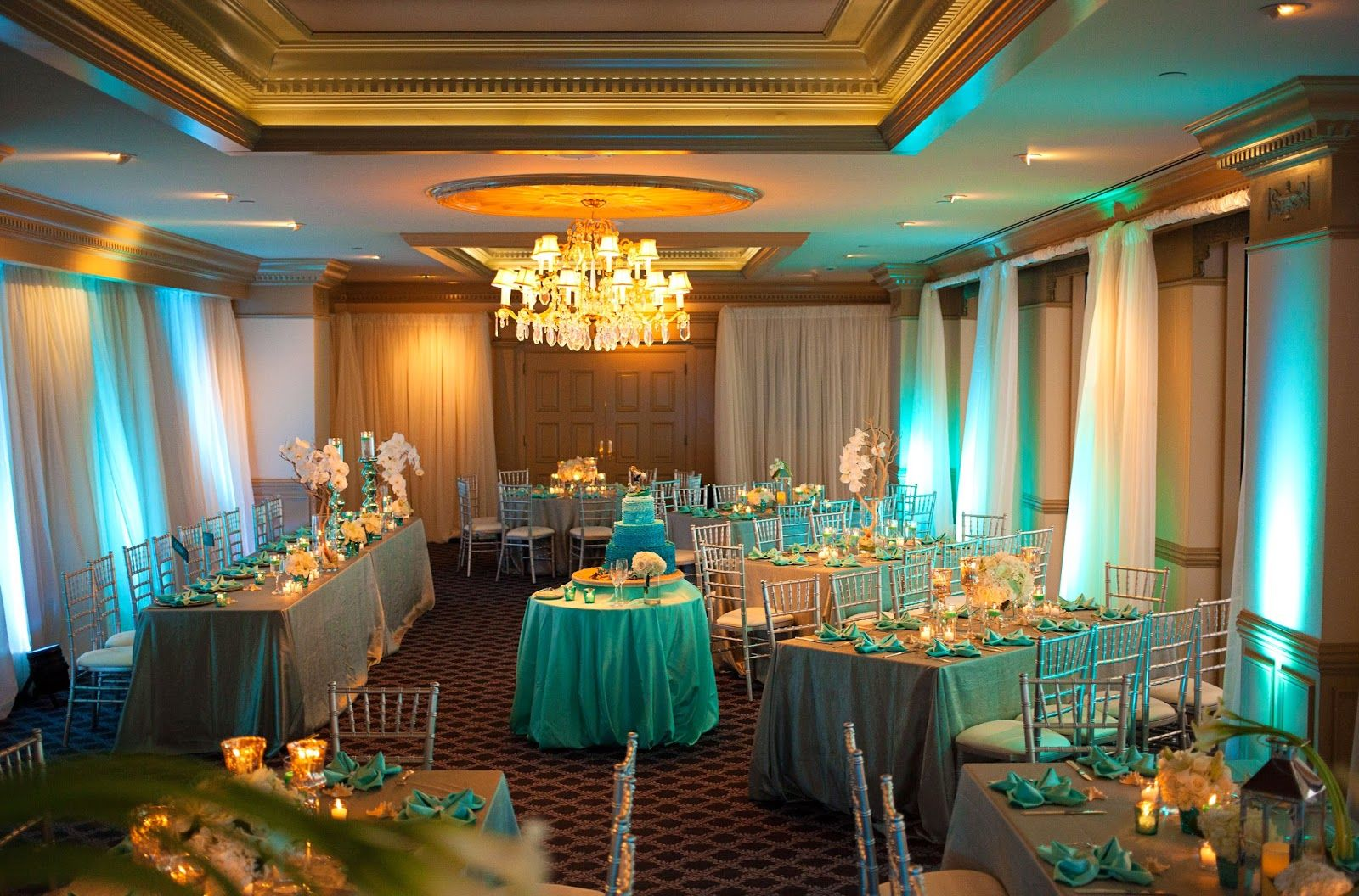 turquoise and silver wedding table decorations - google search