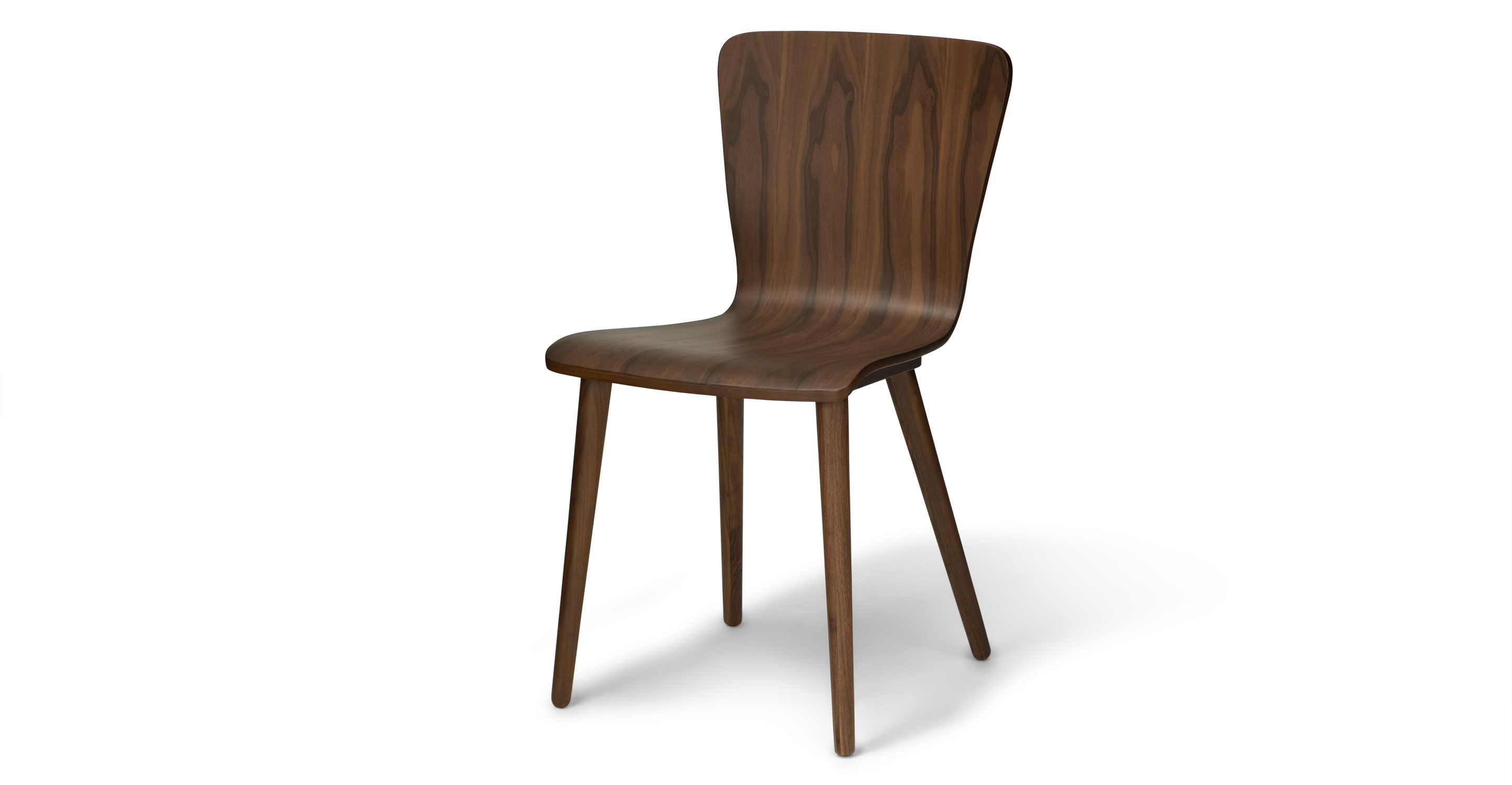 2 X Dining Chair In Walnut Wood | Article Sede Mid Century Modern Furniture