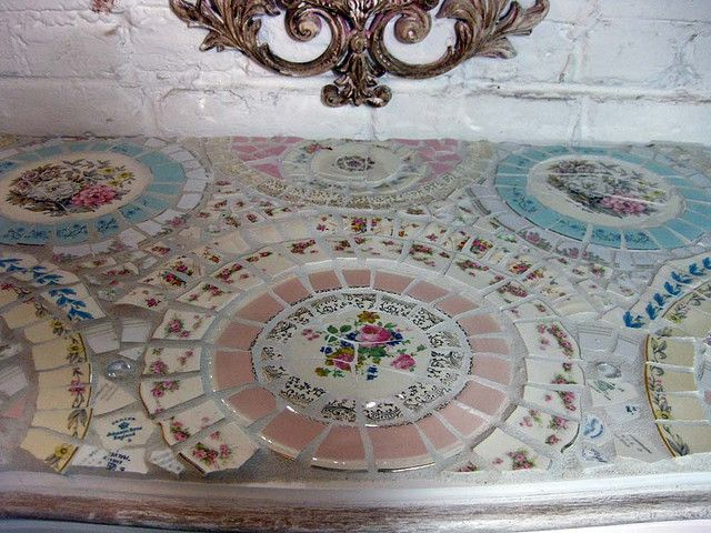 Mosaic Hand Painted Dresser by paintedcottage, via Flickr
