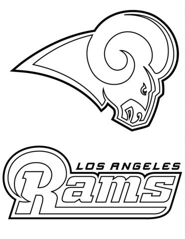 Los Angeles Rams Logo Coloring page | Los angeles rams ...